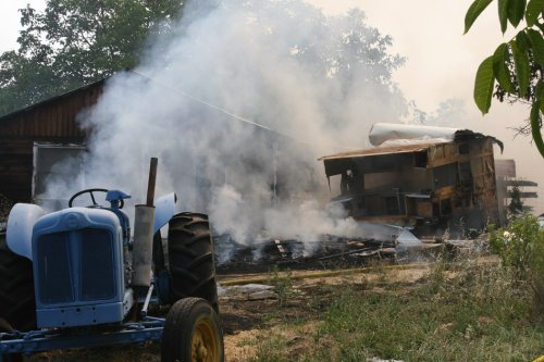 Mowing causes Friday morning fire